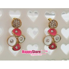Cute Dangling Diamond stud earrings